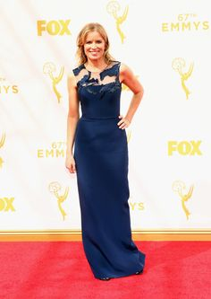 Actress Kim Dickens attends the 67th Annual Primetime Emmy Awards at Microsoft Theater on September 20, 2015 in Los Angeles, California.