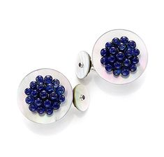 FD Gallery | A Pair of Mother of Pearl and Sapphire Cufflinks, by Bhagat