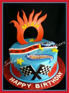Hot Wheels Birthday Cake