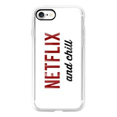 Netflix and Chill Dirty Vintage Typography - iPhone 7 Case, iPhone 7... ($40) ❤ liked on Polyvore featuring accessories, tech accessories, iphone case, iphone cases, apple iphone case, iphone cover case and vintage iphone case