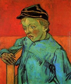 The Schoolboy (Camille Roulin) Vincent Van Gogh Reproduction | 1st Art Gallery