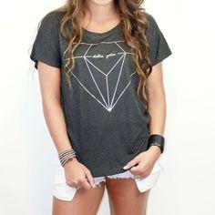 Delta Zeta Metallic Slouchy Sorority T-Shirt | Sorority, T ...