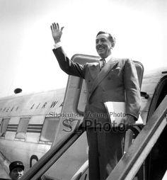 Walt Disney arriving at Paris airport june 28, 1949