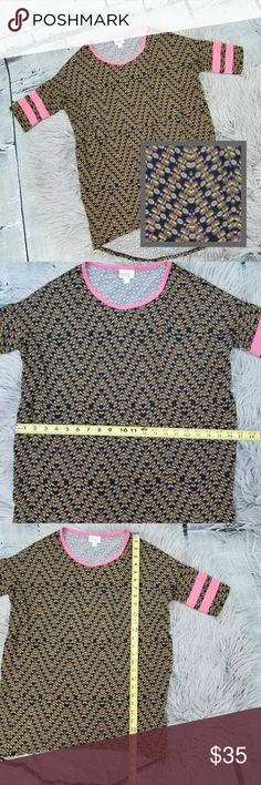Lularoe Irma XXS Lularoe Irma XXS in excellent used condition. Fun print!  ***Please note that I am not a Consultant.***  Please let me know if you have any questions. Happy Poshing! LuLaRoe Tops Tunics