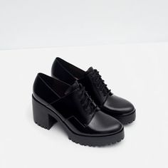 Image 5 of TRACK SOLE BLUCHERS from Zara