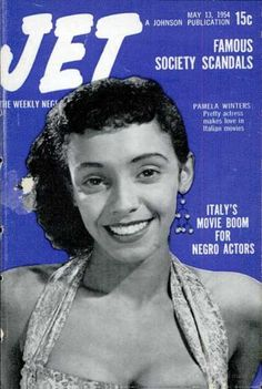 Jet: Pamela Winters, May 1954 Jet Magazine, Black Magazine, Magazine Art, Pin Up Makeup, 50s Makeup, Crazy Makeup, Makeup Art, Big Lips Natural, Ebony Magazine Cover
