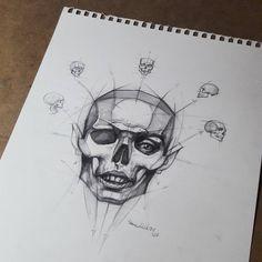 """좋아요 27.3천개, 댓글 96개 - Instagram의 FERHAT EDİZKAN(@edizkan)님: """"#skull #drawing #dessin #desen #portraitdrawing #sketch #eskiz #igart #dibujo #art #artoftheday…"""""""