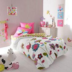 Literie de lit d 39 enfant de fille sur pinterest cr ches pour b b fille - Literie junior fille ...