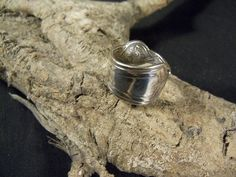R80- Handmade spoon ring ROMAN 1870s size 10-1/4  Silver Plated #handmade #SpoonRing