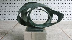 Barbara Hepworth. 'Oval Form' (Trezion) 1961-63. Aberdeen Art Gallery and Museums Collections.