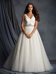 Wedding Dress Photos - Find the perfect wedding dress pictures and wedding gown photos at WeddingWire. Browse through thousands of photos of wedding dresses. Affordable Wedding Dresses, Wedding Dresses Photos, Wedding Bridesmaid Dresses, Wedding Dress Styles, Bridal Dresses, Affordable Bridal, Prom Dresses, Allure Wedding Gowns, Designer Wedding Gowns