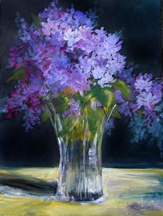 """Lilacs and Light"" - Original Fine Art for Sale - © Robin Swaby"