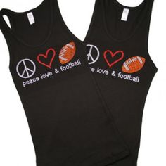 lOVE HER STUFF!!    Football Bling tanks,shirts,bags and more. www.facebook.com/pdkids