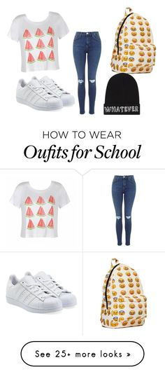 """""""middle school fashion"""" by iisabellasulliivan on Polyvore featuring Ally Fashion, adidas Originals and Local Heroes"""
