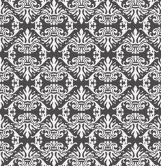 Vintage black & white damask pattern background - Freepik.com