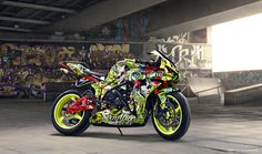 HONDA CBR 600 RR 2008 looks like something straight out of a crazy Asian action movie Custom Street Bikes, Custom Sport Bikes, Moto Bike, Motorcycle Art, Motorcycle Touring, Best Motorbike, Stunt Bike, Cbr 600rr, Honda Cbr 600