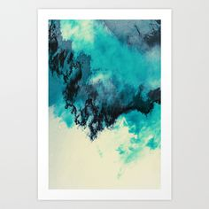 Painted Clouds V Art Print by Caleb Troy | Society6