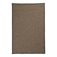 Natural Wool Houndstooth HD34 6' Round Caramel Area Rug | Nebraska Furniture Mart