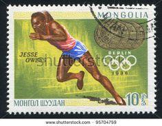 Mongolia Stamp 1968 - Runner Jesse Owens Berlin 1936