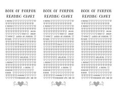Book of Mormon reading chart/FHE calendar bookmark for 2017