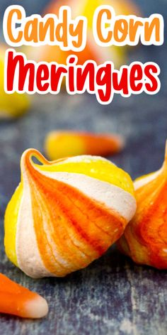These candy corn Halloween cookies are the perfect Halloween treat! If you're looking for delicious fall recipe, you'll love these colorful meringue cookies. Meringue Cookies, Yummy Cookies, Yummy Treats, Fall Candy, Candy Corn, Halloween Treats, Cookie Decorating Icing, Best Sweets