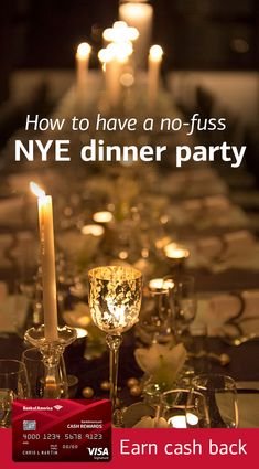 Our New Year's Eve menu and make-ahead tips help you host a successful, delicious, and stress-free celebration. New Year's Eve Dinner Menu, New Years Eve Menu, New Years Eve Dinner, Dinner Party Menu, New Years Party, Party Invitations, Invite, Best Credit Cards, Beach Party