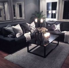59 smart small apartment living room decor ideas on a budget 49 Living Room Decor Cozy, Living Room Grey, Home Living Room, Apartment Living, Interior Design Living Room, Living Room Designs, Living Area, Apartment Ideas, Modern Living Room Curtains