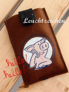 """""""Little Pig on the Phone"""" from the """"Best Friends"""" Collection at www.AnjaRiegerDesign.com    @Mary Pigg"""