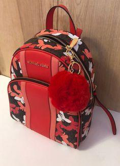 michael kors backpack purse on Mercari Cute Mini Backpacks, Little Backpacks, Stylish Backpacks, Girl Backpacks, Luxury Purses, Luxury Bags, Mochila Victoria Secret, Backpack Purse, Small Backpack