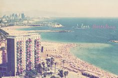 Barcelona Spain Beach Photo Art Print Ocean by CharlenePrecious
