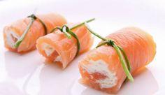 Rotolini di salmone affumicato e formaggio