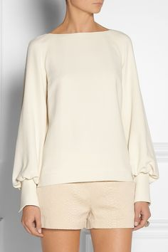 The Row|Ilario stretch-cady blouse|NET-A-PORTER.COM