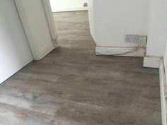 Wood effect lino Grey Lino, Wooden Flooring, Hardwood Floors, Grey Oak, Floor Decor, Floor Design, Tile Floor, Sweet Home, Floor Plans