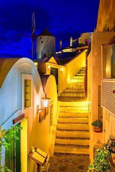 Dusk in Santorini, Greece