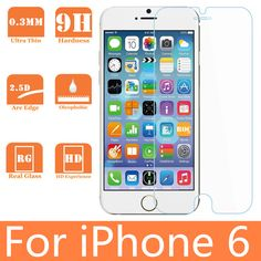 For iPhone 6 tempered Glass screen protector for iPhone 6 4.7'' glass screen protector for Iphone 6 screen guard layer film
