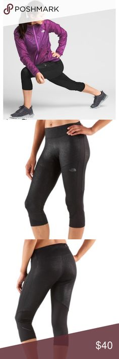Northface Better Than Naked Capris Black Sparkle Master Montana's Bridger Ridge Run in these premium running capris that feature lightweight stretch for comfortable support and unrestricted freedom of movement, breathable FlashDry™ fabric that moves sweat away from skin and reflective details for low-light visibility. Women's durable, breathable capri pants with moisture-wicking FlashDry™ fibers. 360-degree reflectivity. Back kangaroo pocket. Secure-zip, media-compatible pocket. Energy gel…