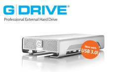 G-Technology, G-DRIVE, Professional Strength Hard Drive - Sexy looking hard drive to coordinate with Mac products.