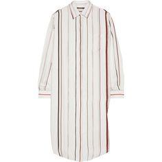 Maison Margiela Printed silk-satin twill shirt dress (7.404.490 IDR) ❤ liked on Polyvore