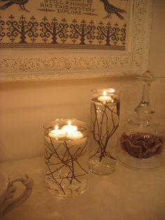 floating candles ^_^ <3