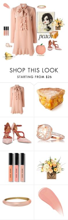 """""""Peach Out"""" by juliabachmann ❤ liked on Polyvore featuring RED Valentino, Charlotte Olympia, Malone Souliers, Bobbi Brown Cosmetics, Alexis Bittar and Burberry"""