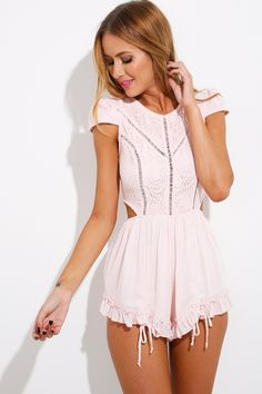 HelloMolly | Candy Girl Playsuit Baby Pink