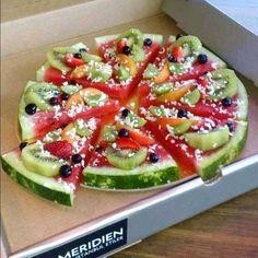 Watermelon pizza Recipe