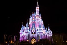 Cinderella's castle at Christmastime