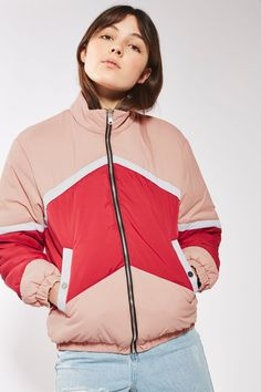 Reversible Red Puffer Jacket - New In This Week - New In - Topshop
