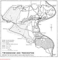Map of Twickenham before the 1818 and 1800 enclosures St Margaret, History Online, Old Photographs, British History, Surrey, Kingston, Great Photos, The Hamptons, Maps