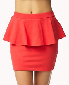 Basic Peplum Mini Skirt | FOREVER21 Do you have pep in your step?