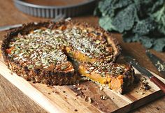 roasted root vegetable pie with a cauliflower crust or with an oat crust ||  to her core