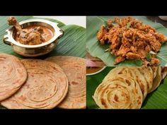 Parotta Recipes  (Laccha Paratha (Wheat Parotta) Parotta Chicken Kothu Parotta)