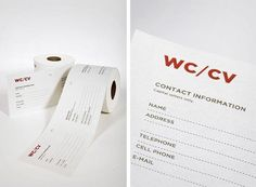 Want to find a job, but don't know where to start? Fill in the blanks, and put this paper roll in the company's toilet that you want to work for. Resume Design, Creative Resume, Find A Job, New Job, Toilet Paper, It Works, Stationery, Names, Branding