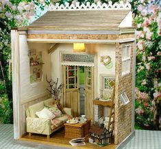 Idea for windows and French door in back wall of garden shop: